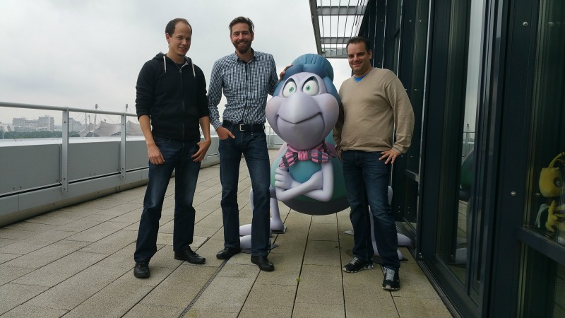 Das Team hinter studio 100 (vlnr): Manuel Schmid: Project Manager,  Klaus Ullrich: Head of Games,  Martin Kreuzer: Project Manager
