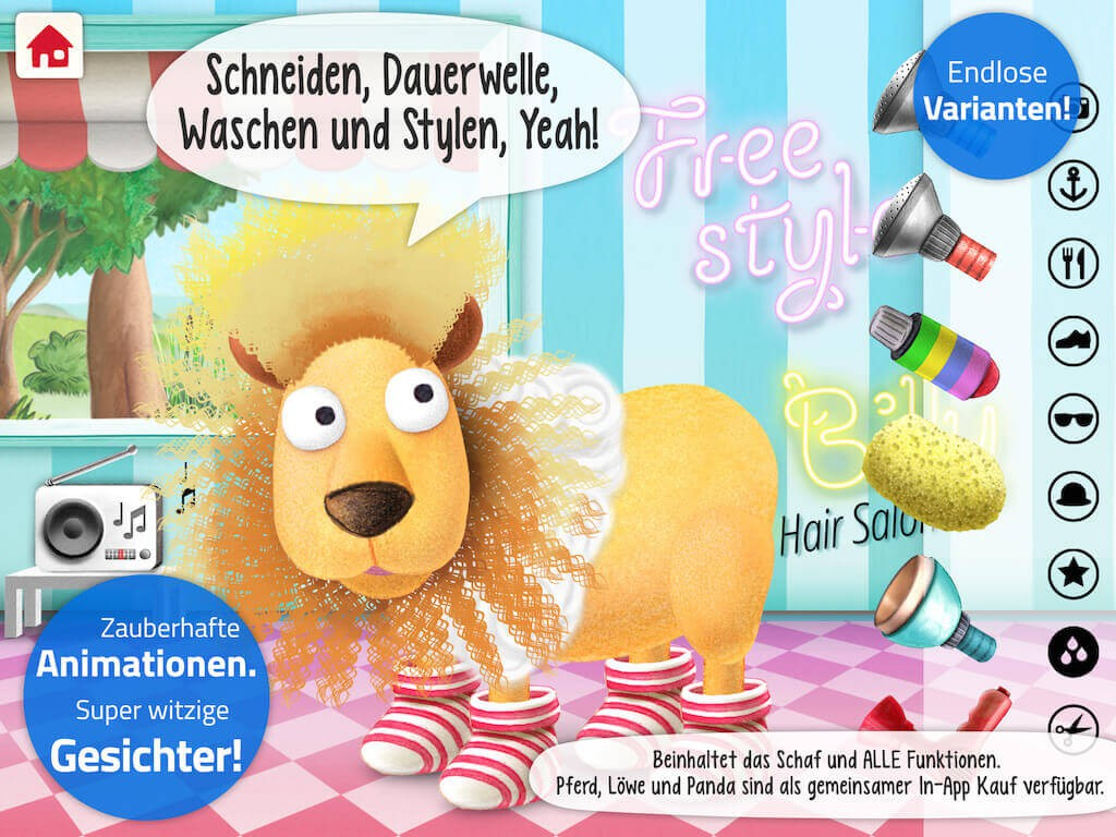 Lustiges Tierestylen mit Silly Billy Hair Salon - Bild (c) wonderkind